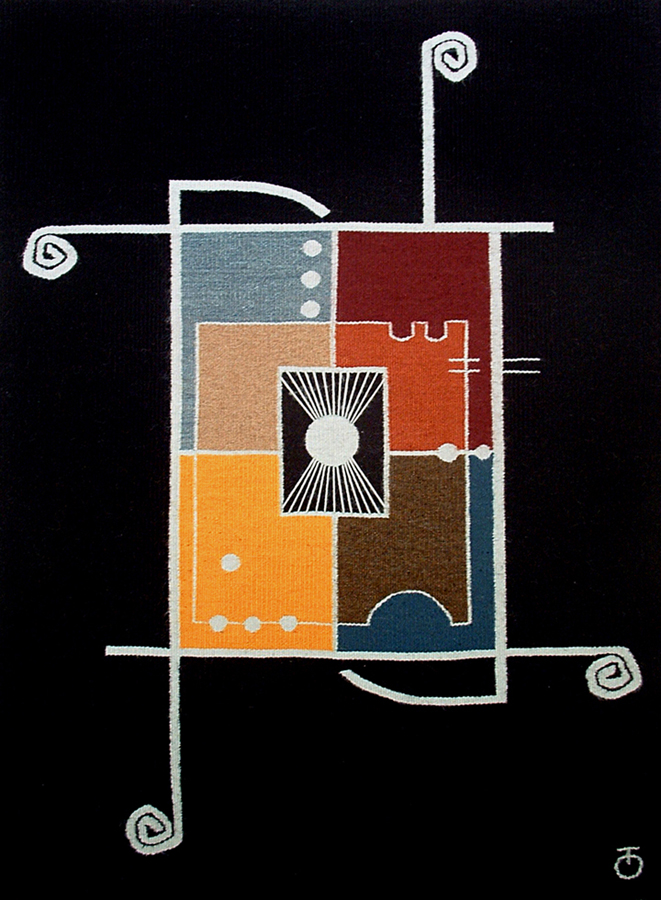 "National Dance Wool, Acrylic, - 39"" x 49""- 2005"